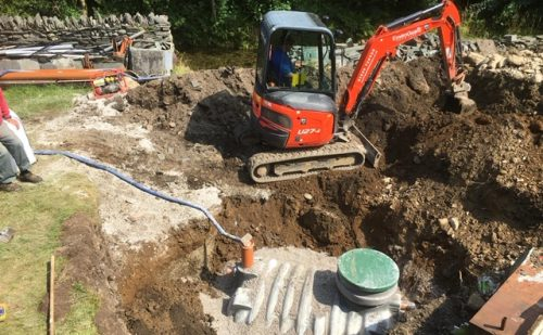Package treatment plant installation Kendal cumbria